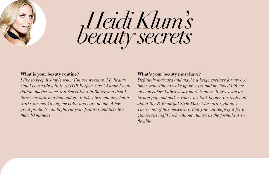 Heidi Klum's beauty secrets