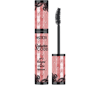 This luxe-looking mascara exudes ultra-feminine glamour. Echoing the first Seduction Codes N°2 Volume & Curve Mascara Black mascara, the new pack design is covered with a sumptuous quilt-effect pattern, this time in chic coral-pink. Adding to the boudoir-beautiful look, the cap and base of the cylindrical pack are embellished with a suggestive touch of black lace, hinting at sexy lingerie.
