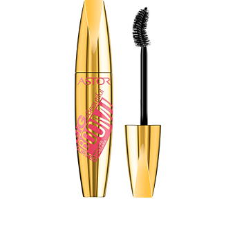 This Big & Beautiful BOOM! Curved Mascara metallic gold pack with feminine pink graphics is sexy and impactful.  Unscrew the lid to reveal the black strongly curved brush inside for power results! Like the rest of Astor's Big & Beautiful range, the pack is satisfyingly big and curvaceous to hold – you can't miss it.