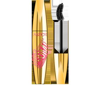 La Big & Beautiful BOOM! Curved Mascara se presenta en un envase dorado metálico con una sensual tipografía rosa de gran impacto. Abre la tapa y descubrirás el aplicador curvo negro que te ofrecerá un resultado potente. Como el resto de la gama Big & Beautiful de Astor, este envase tiene una forma grande y curva, agradable al tacto. No te la pierdas.