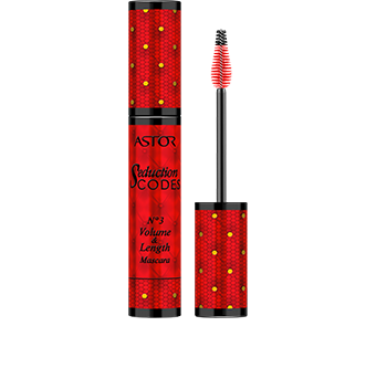 Seduction Codes No3 Volume & Length Mascara in opulent red with gold graphics to create an authentically seductive look.
