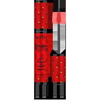Seduction Codes No3 Volume & Length Mascara, de color rojo opulento con tipografía dorada para crear una auténtica mirada seductora.