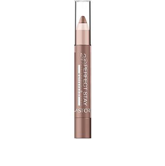 El formato lápiz Perfect Stay 24H Eye Shadow + Liner Waterproof  permite una aplicación sencilla y precisa en todo momento. Dibuja una línea fina si quieres utilizarlo como delineador o colorea el párpado para obtener un efecto sombra.