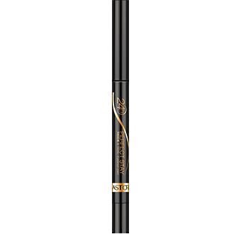Perfect Stay 24H Thick & Thin Eyeliner Pen te permite acentuar y exagerar los ojos con increíble facilidad y precisión. El suave aplicador con punta de fieltro tiene dos lados para obtener dos acabados diferentes: un lado plano de trazo grueso y un lado afilado de trazo fino.