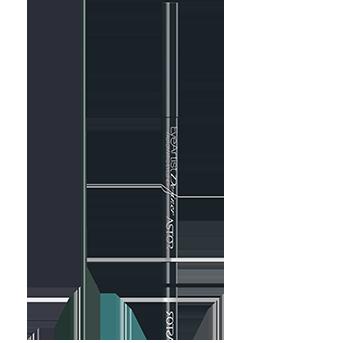 Der edel-tiefschwarze und schlanke Stift des EyeArtist Definer Automatic Eyeliner für eine ultraweiche Applikation.