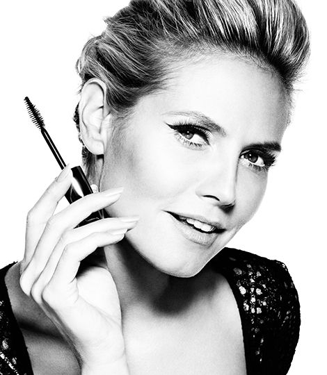 Get ready to be inspired by Heidi's lash-looks. The supermodel stars in the eye-catching black and white media campaign, encouraging women to reveal their most beautiful style.